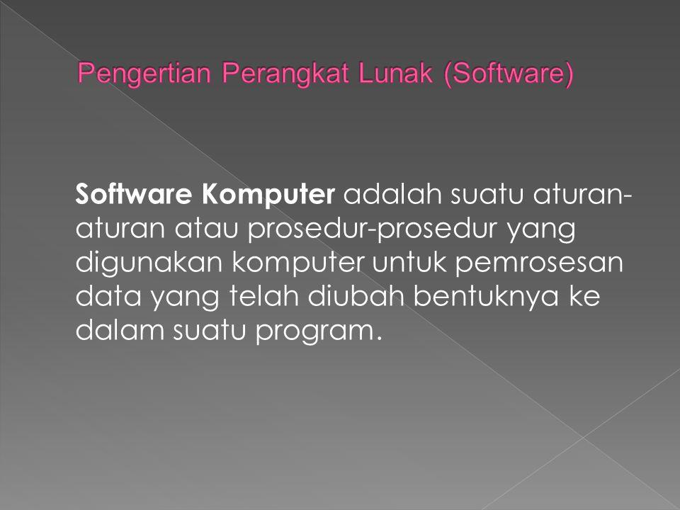 Pengertian Perangkat Lunak (Software)