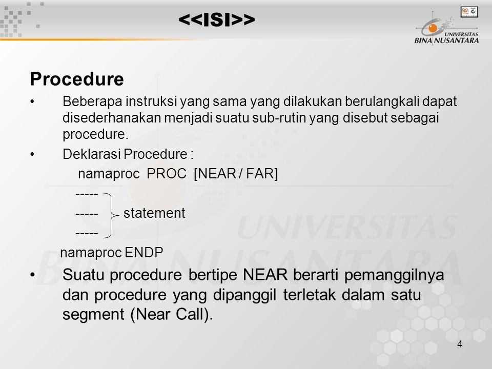 <<ISI>> Procedure