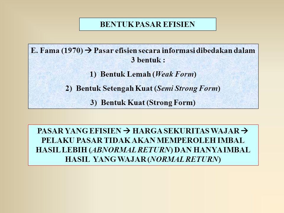 Bentuk Lemah (Weak Form) Bentuk Setengah Kuat (Semi Strong Form)