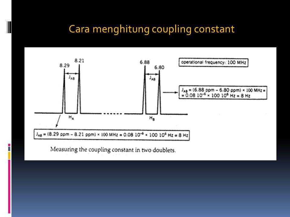 Cara menghitung coupling constant