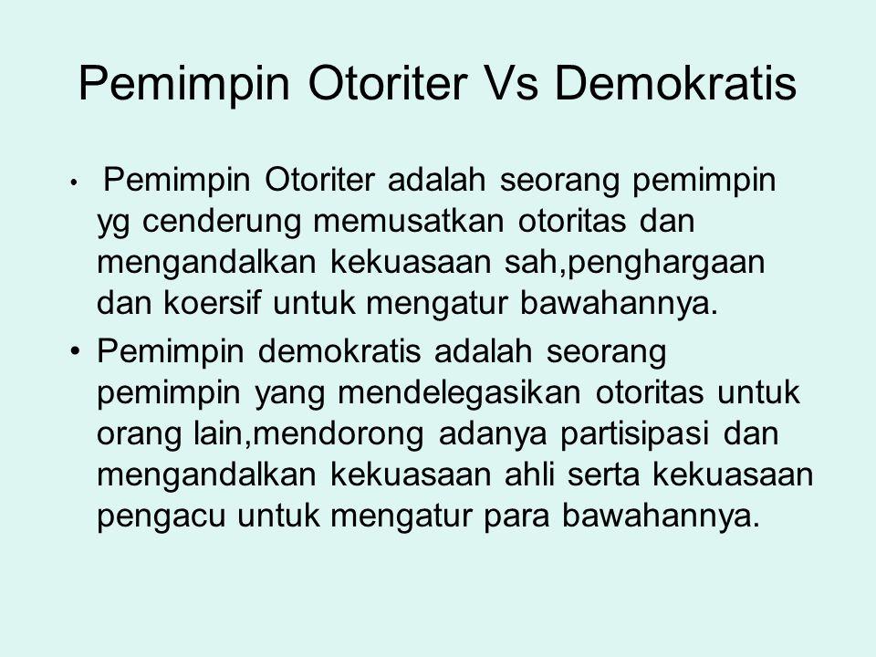 Pemimpin Otoriter Vs Demokratis