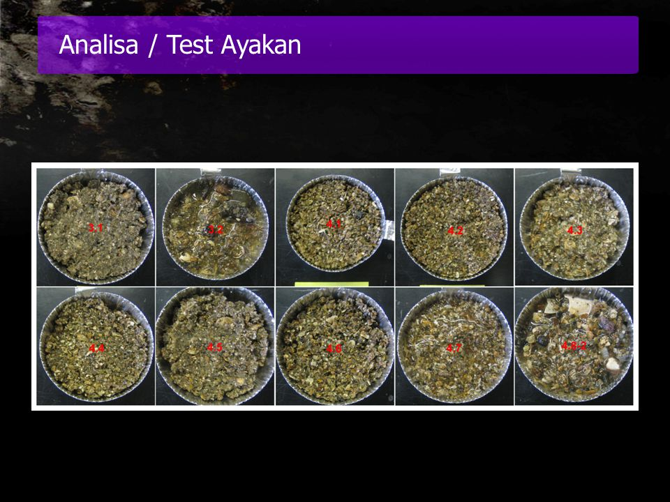 Analisa / Test Ayakan