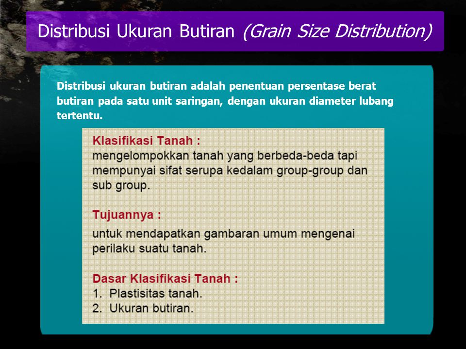Distribusi Ukuran Butiran (Grain Size Distribution)