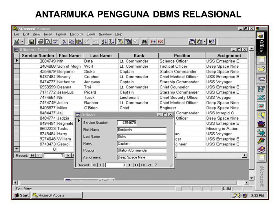 ANTARMUKA PENGGUNA DBMS RELASIONAL