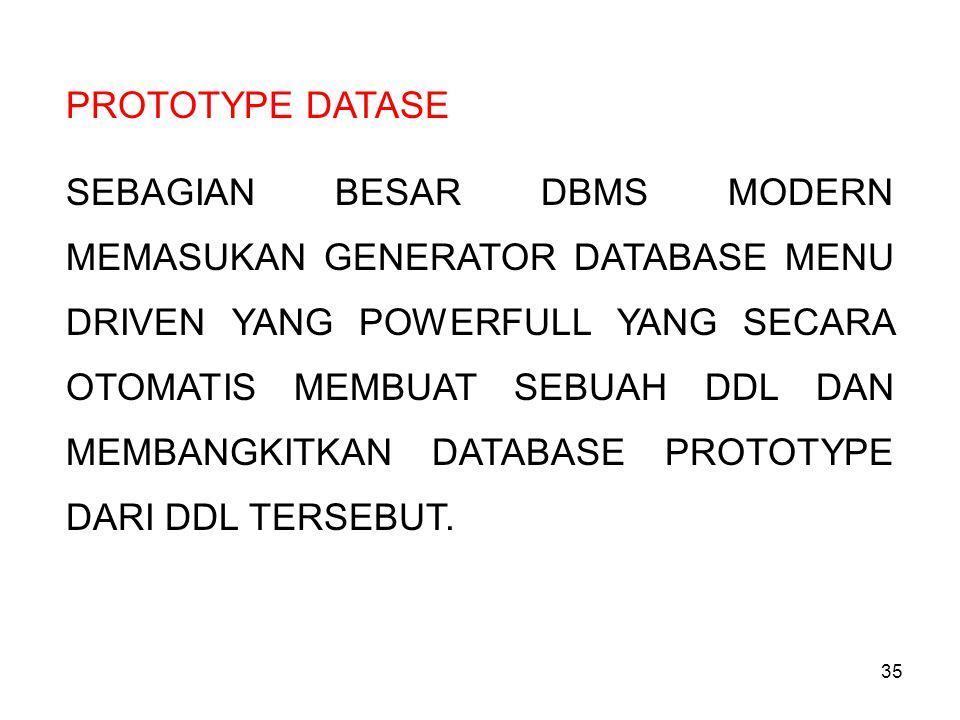 PROTOTYPE DATASE