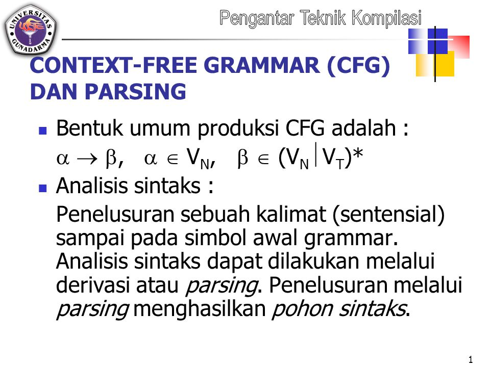 CONTEXT-FREE GRAMMAR (CFG) DAN PARSING