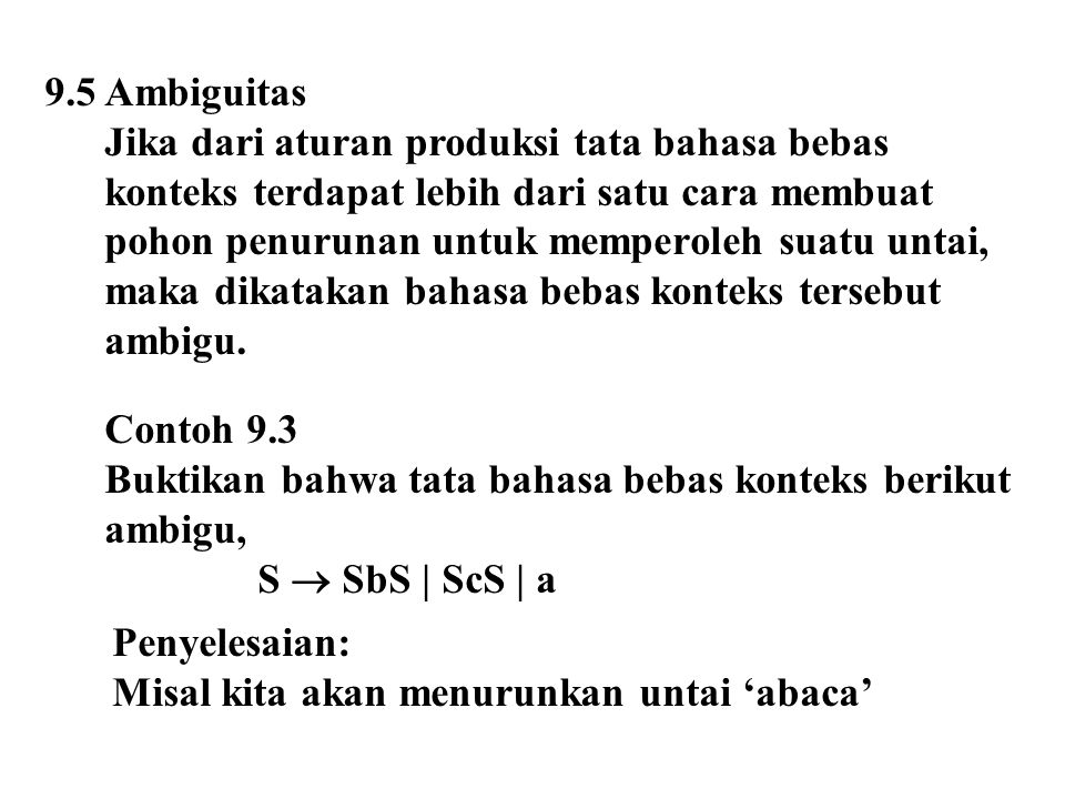 9.5 Ambiguitas