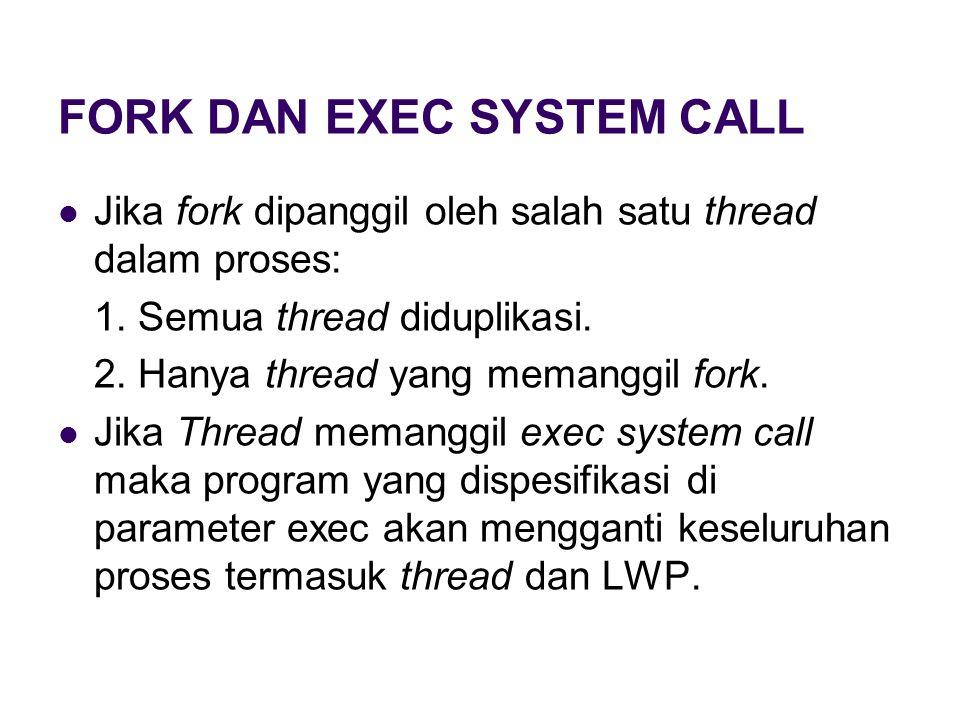 FORK DAN EXEC SYSTEM CALL
