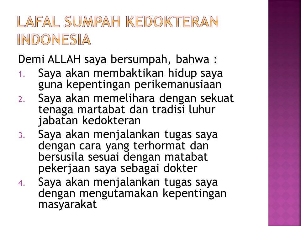 LAFAL SUMPAH KEDOKTERAN INDONESIA