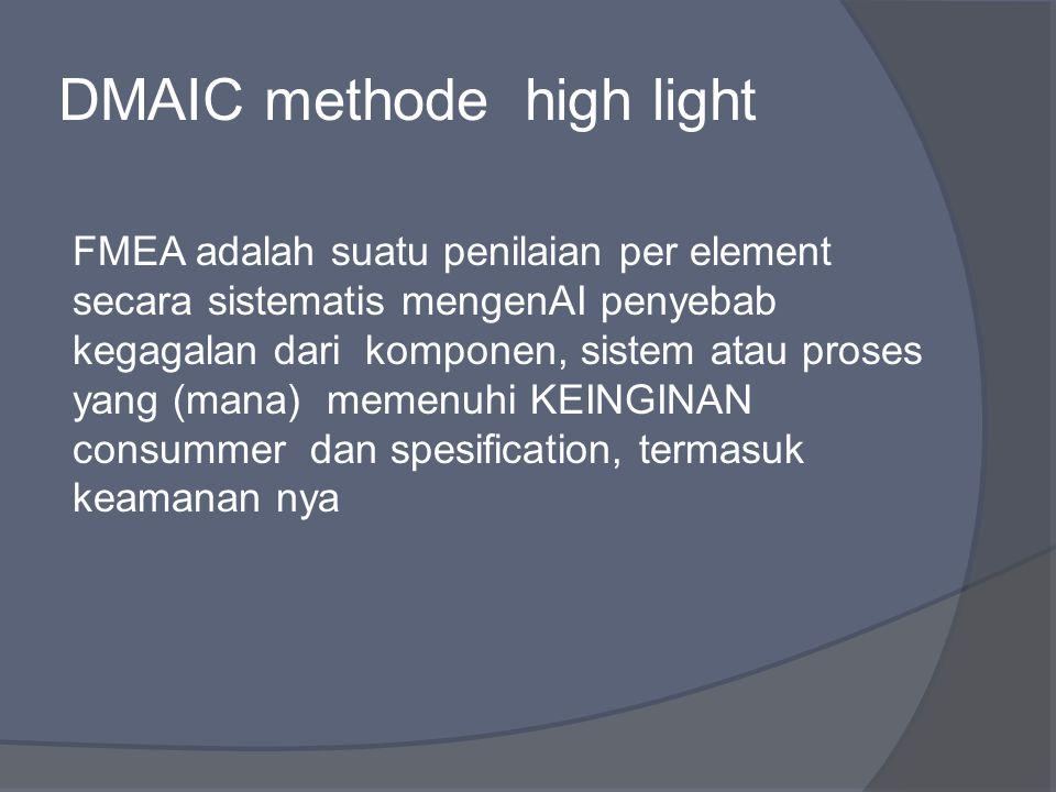 DMAIC methode high light