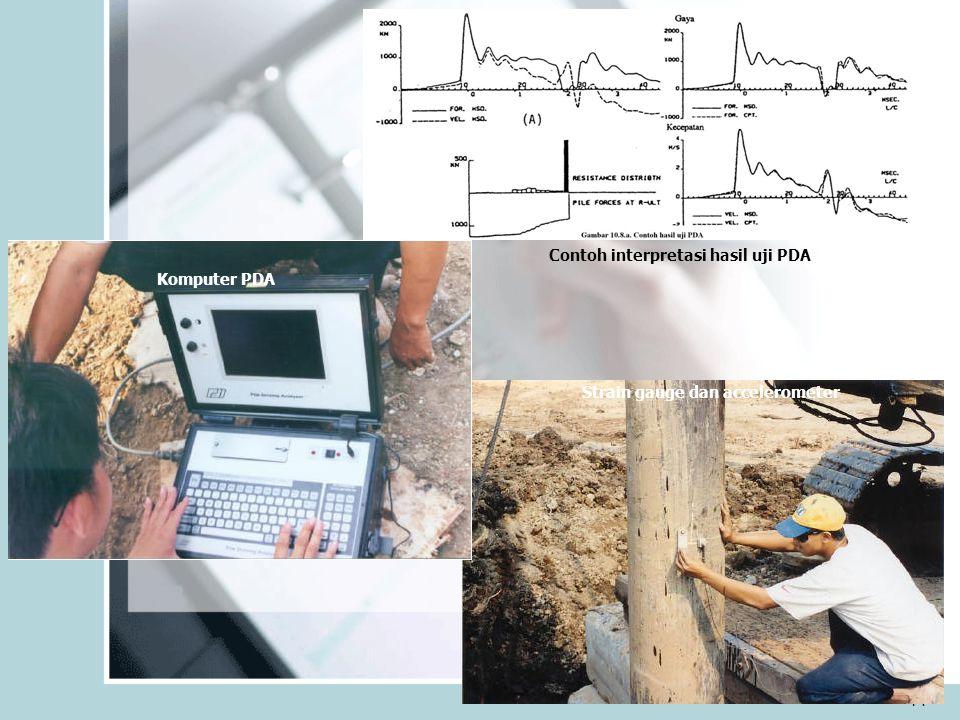 Contoh interpretasi hasil uji PDA Strain gauge dan accelerometer