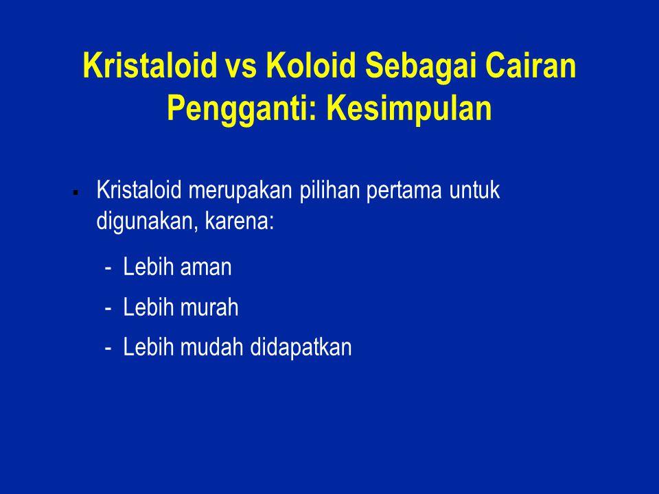 Kristaloid vs Koloid Sebagai Cairan Pengganti: Kesimpulan