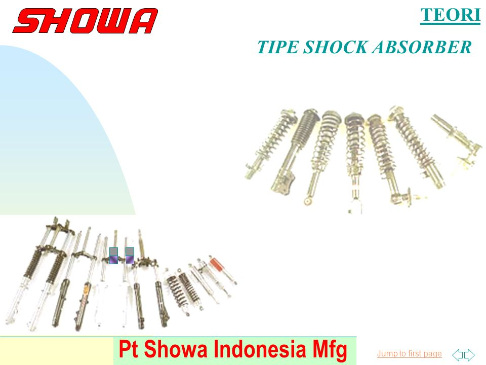 TEORI TIPE SHOCK ABSORBER Pt Showa Indonesia Mfg