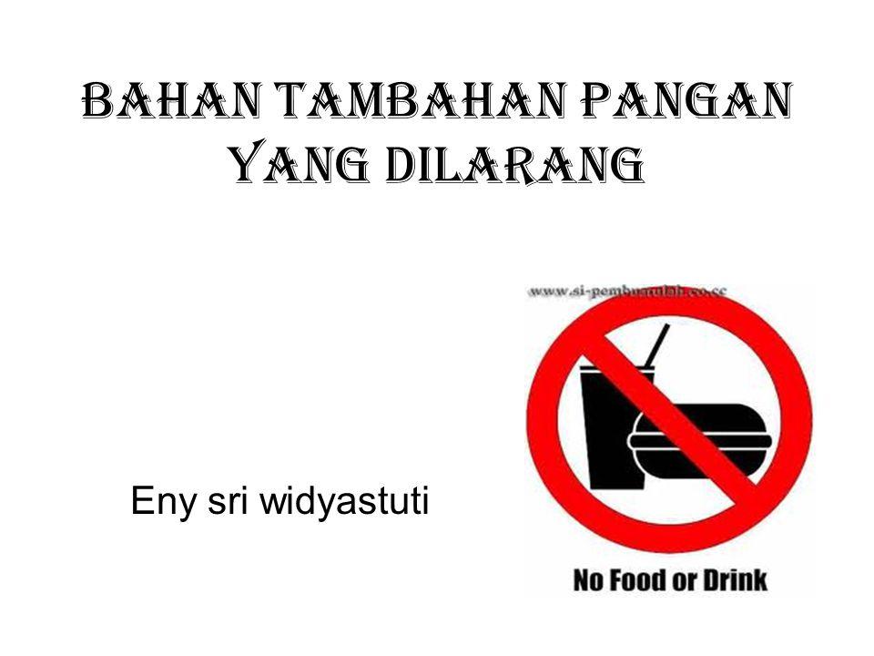 Bahan tambahan pangan yang dilarang