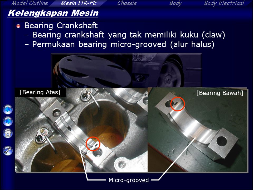 Kelengkapan Mesin Bearing Crankshaft