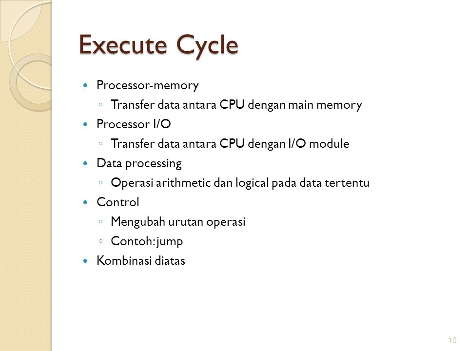 Execute Cycle Processor-memory