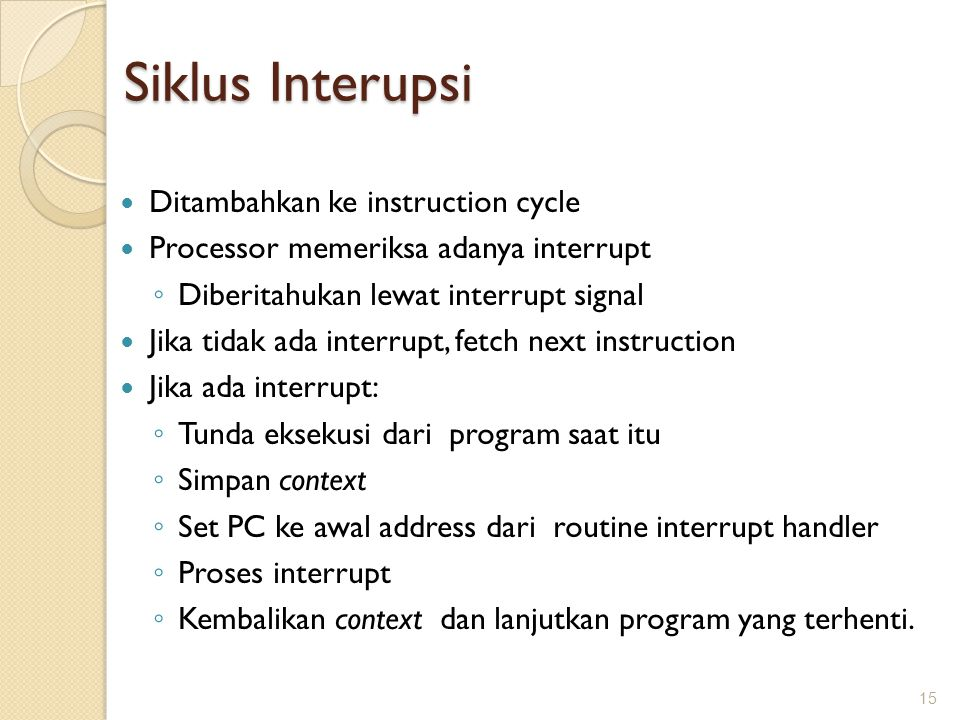 Siklus Interupsi Ditambahkan ke instruction cycle