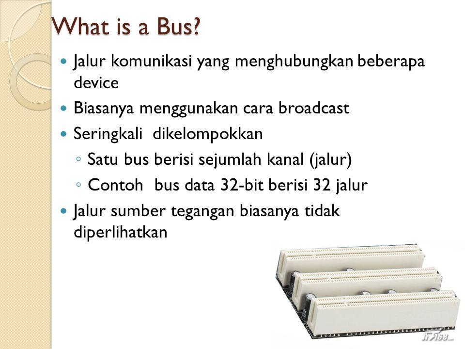 What is a Bus Jalur komunikasi yang menghubungkan beberapa device