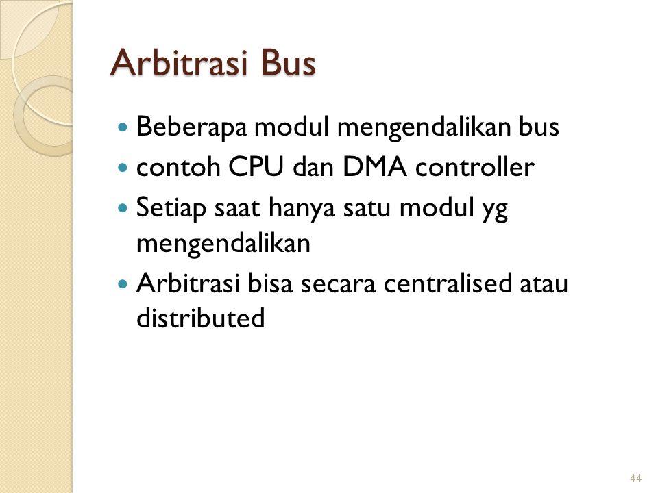 Arbitrasi Bus Beberapa modul mengendalikan bus