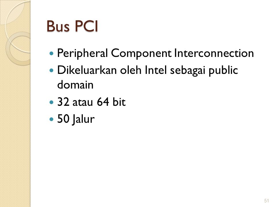 Bus PCI Peripheral Component Interconnection