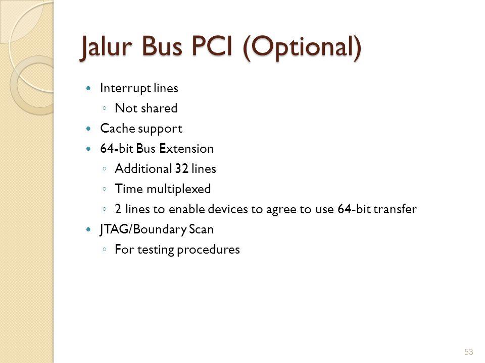 Jalur Bus PCI (Optional)