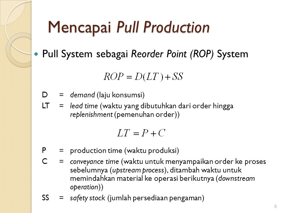 Mencapai Pull Production