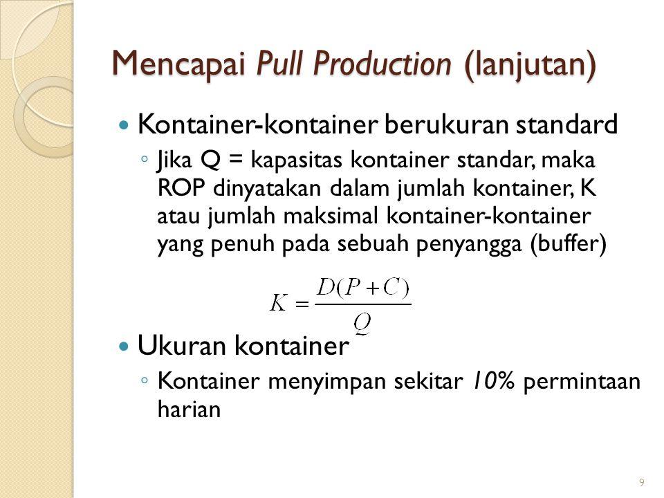 Mencapai Pull Production (lanjutan)