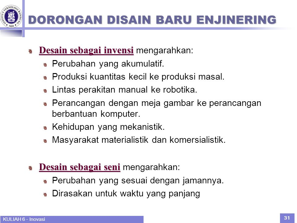DORONGAN DISAIN BARU ENJINERING
