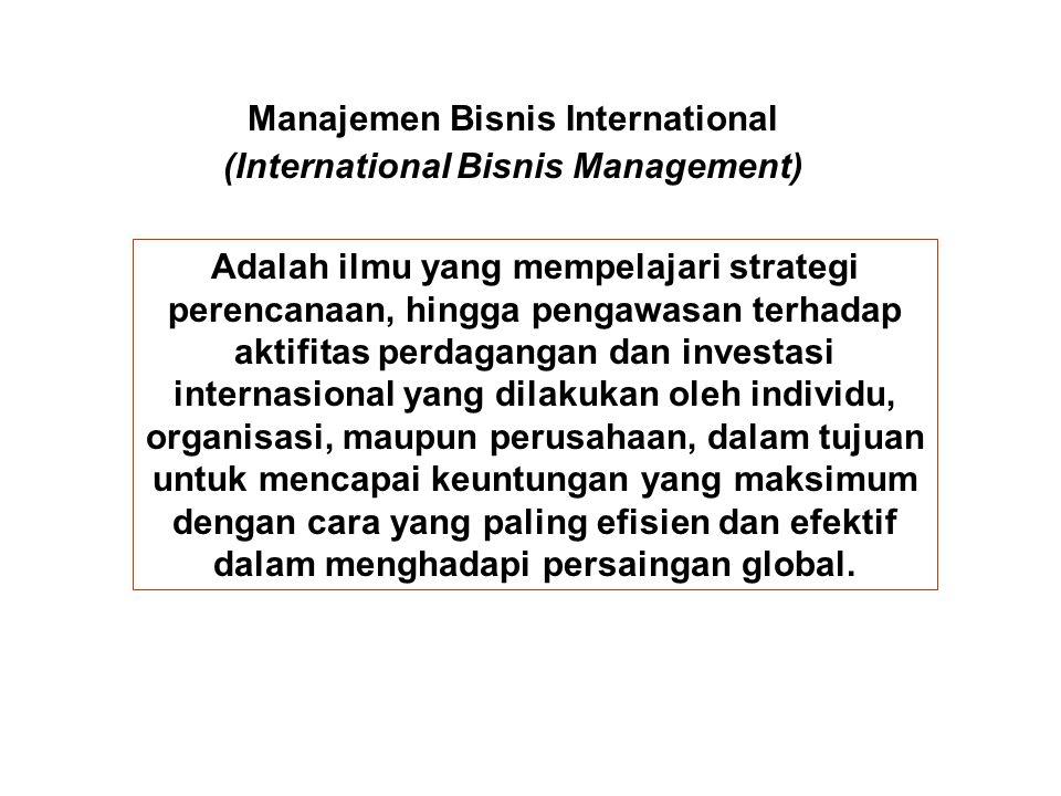 Manajemen Bisnis International (International Bisnis Management)