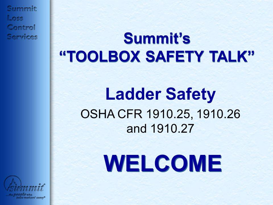 Summit's TOOLBOX SAFETY TALK