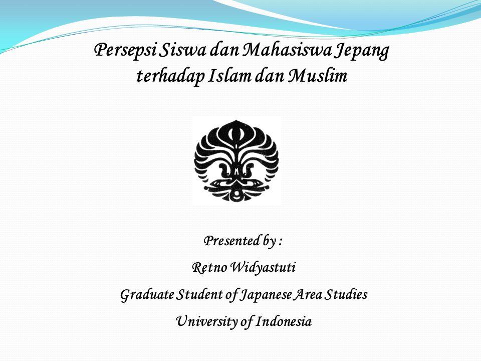 Persepsi Siswa dan Mahasiswa Jepang terhadap Islam dan Muslim