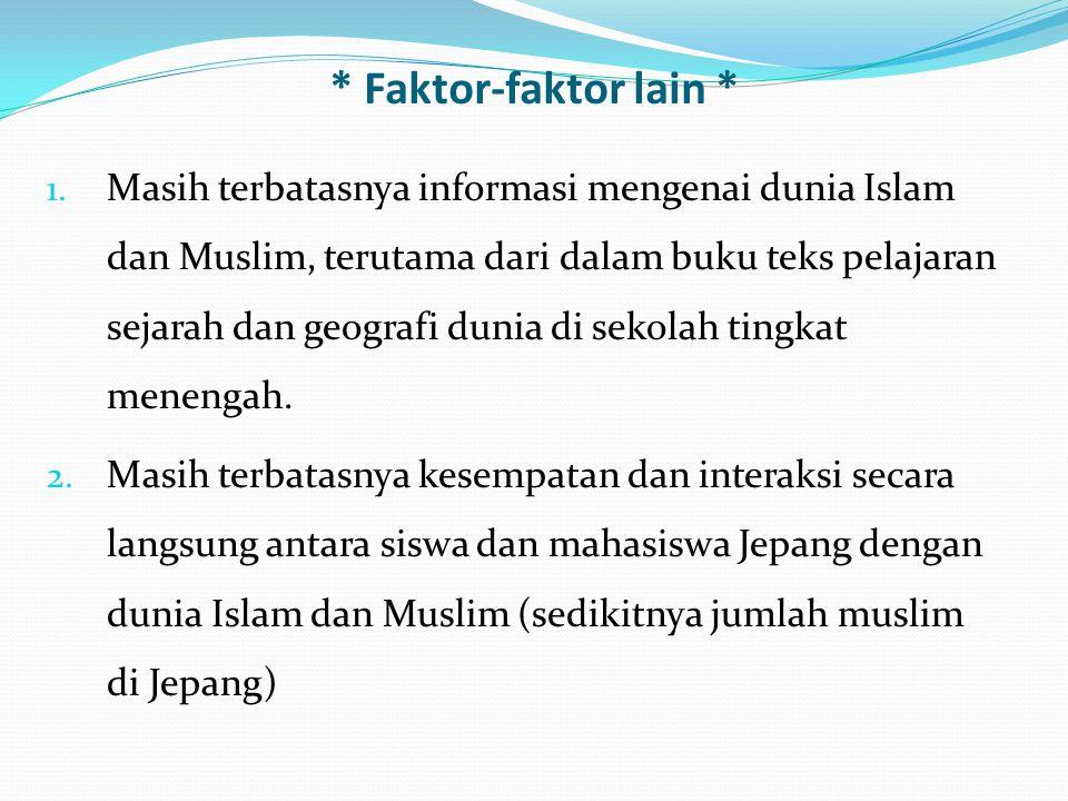 * Faktor-faktor lain *