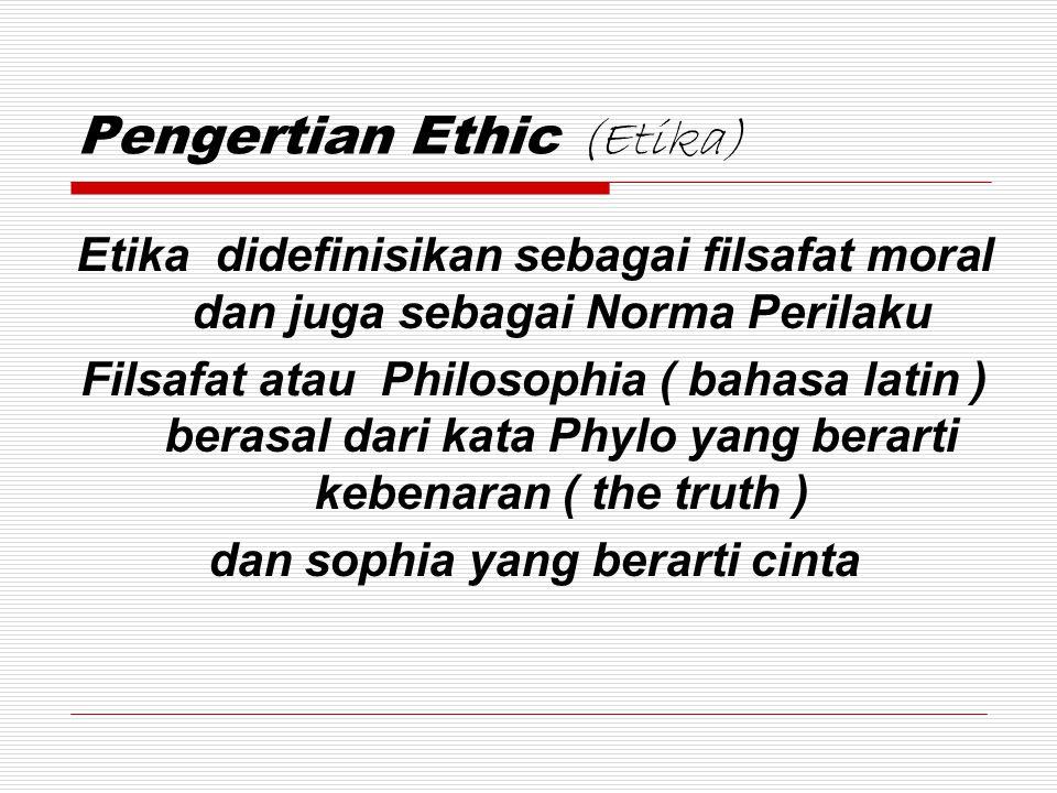 Pengertian Ethic (Etika)