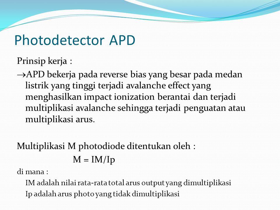 Photodetector APD Prinsip kerja :