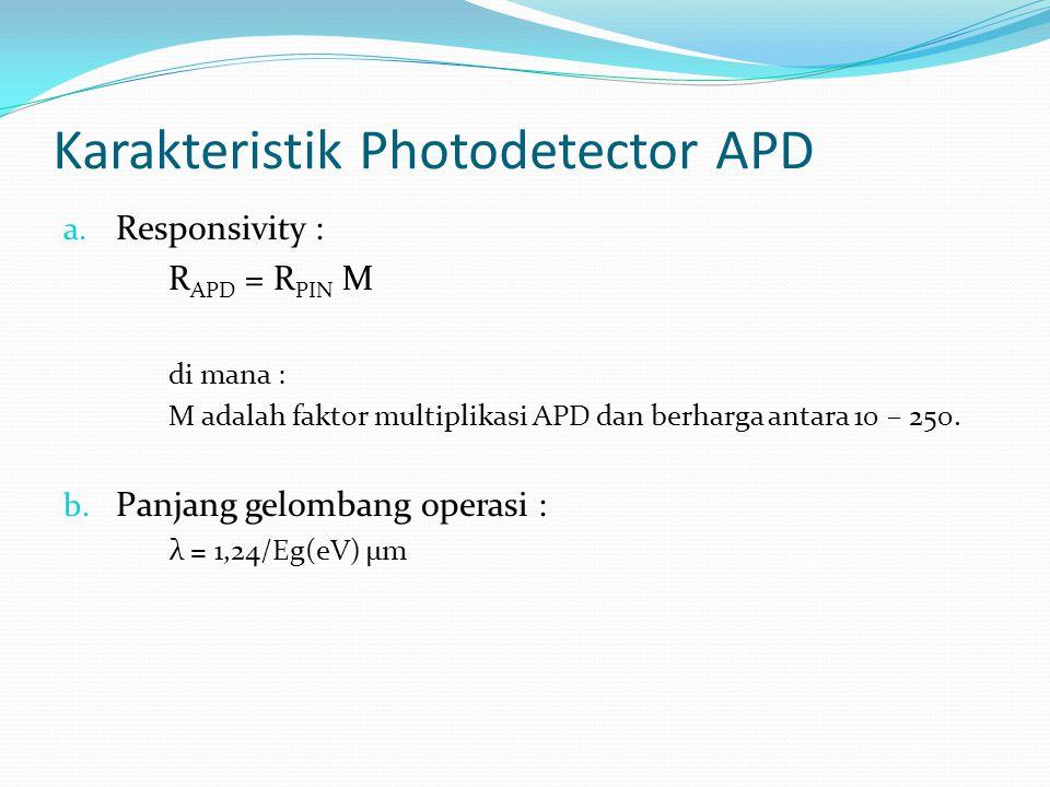 Karakteristik Photodetector APD