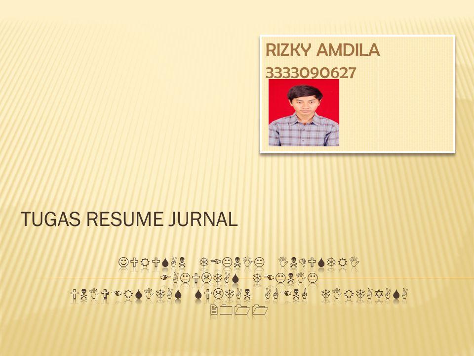 TUGAS RESUME JURNAL RIZKY AMDILA 3333090627