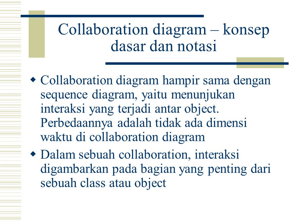 Collaboration diagram – konsep dasar dan notasi