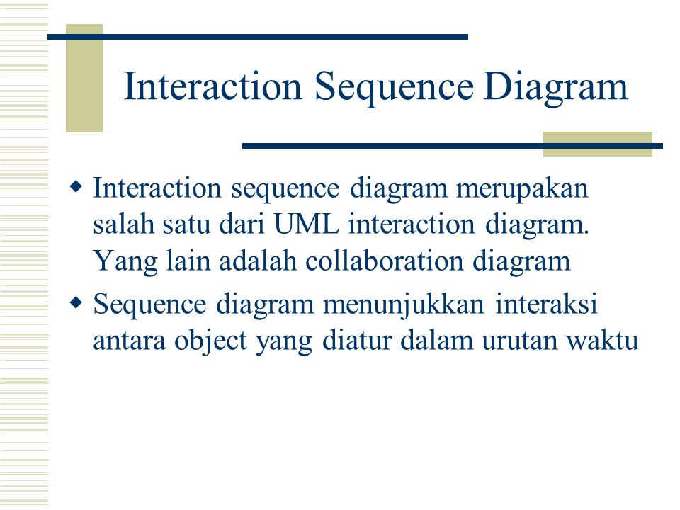 Interaction Sequence Diagram