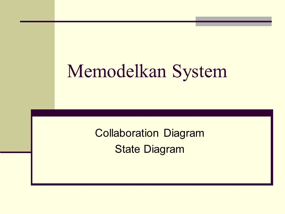 Collaboration Diagram State Diagram