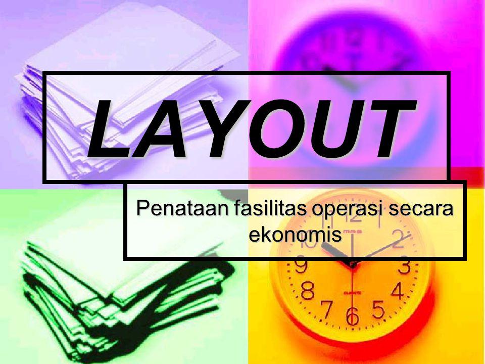 Penataan fasilitas operasi secara ekonomis