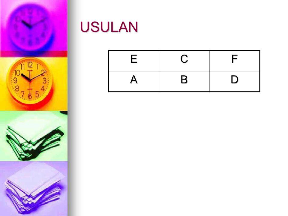 USULAN E C F A B D