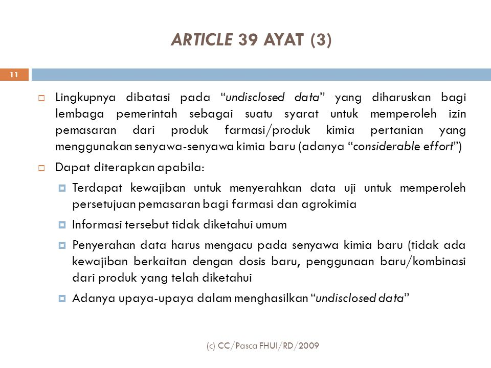 ARTICLE 39 AYAT (3)
