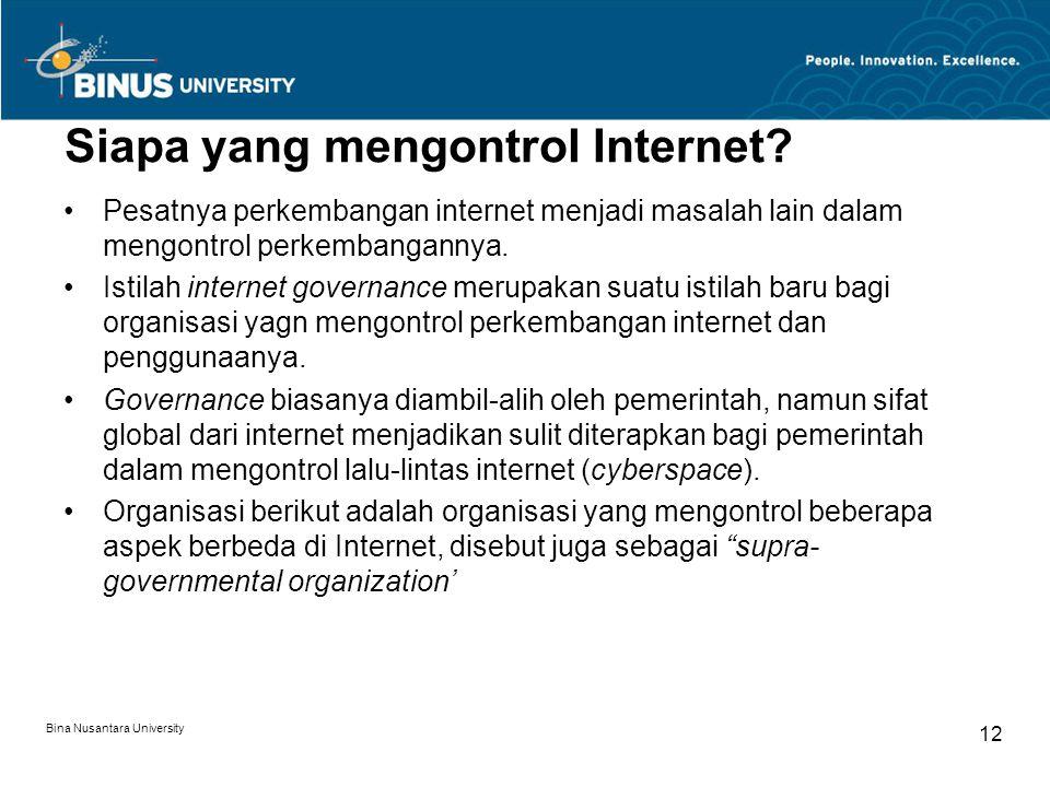 Siapa yang mengontrol Internet