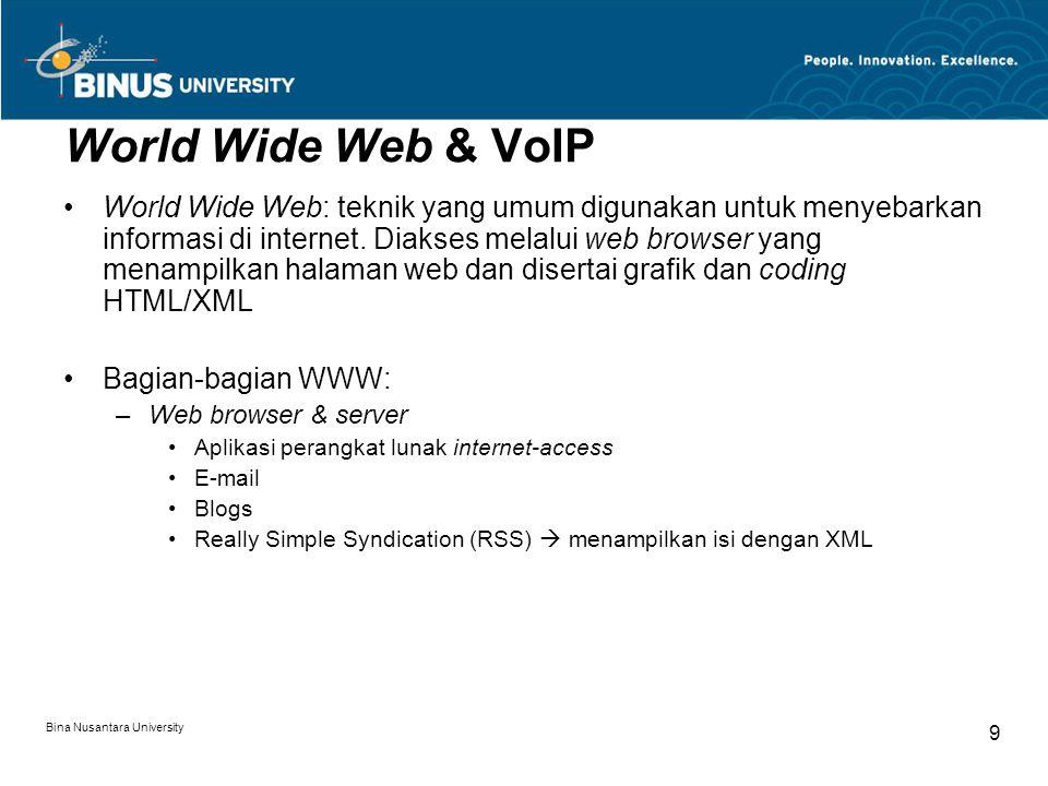 World Wide Web & VoIP