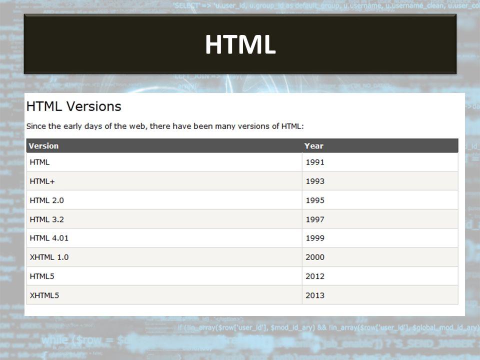 HTML HTML