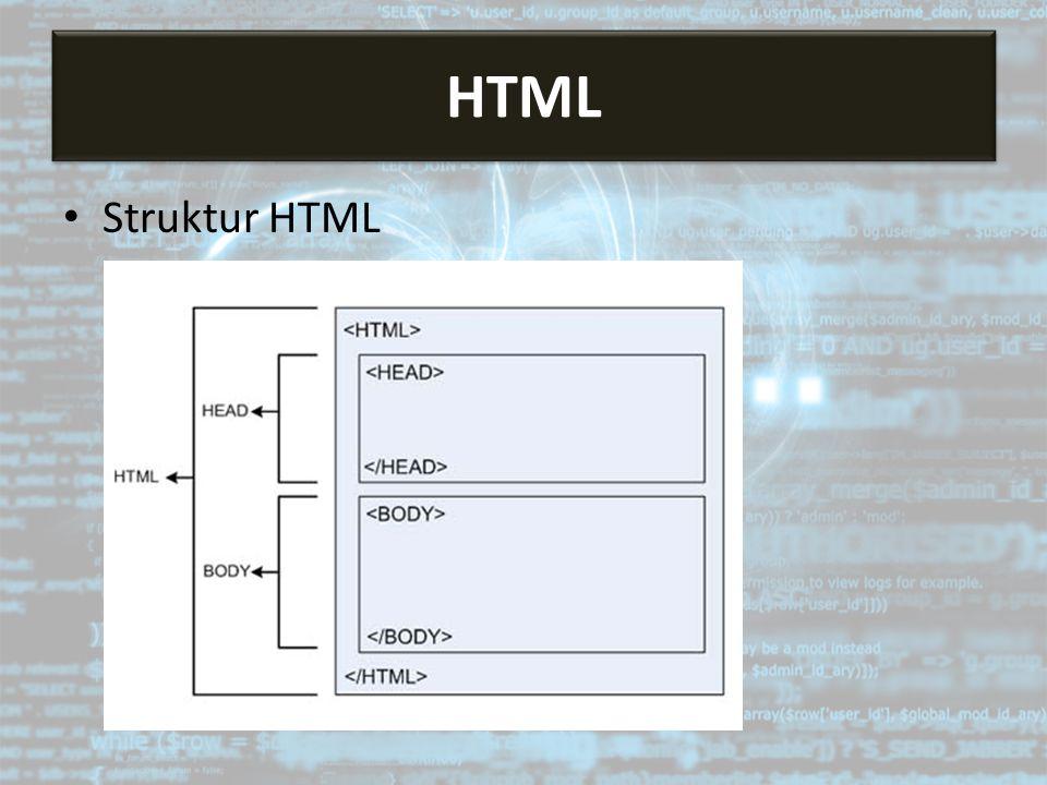HTML HTML Struktur HTML