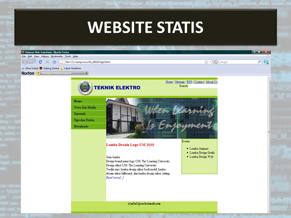Website Statis WEBSITE STATIS