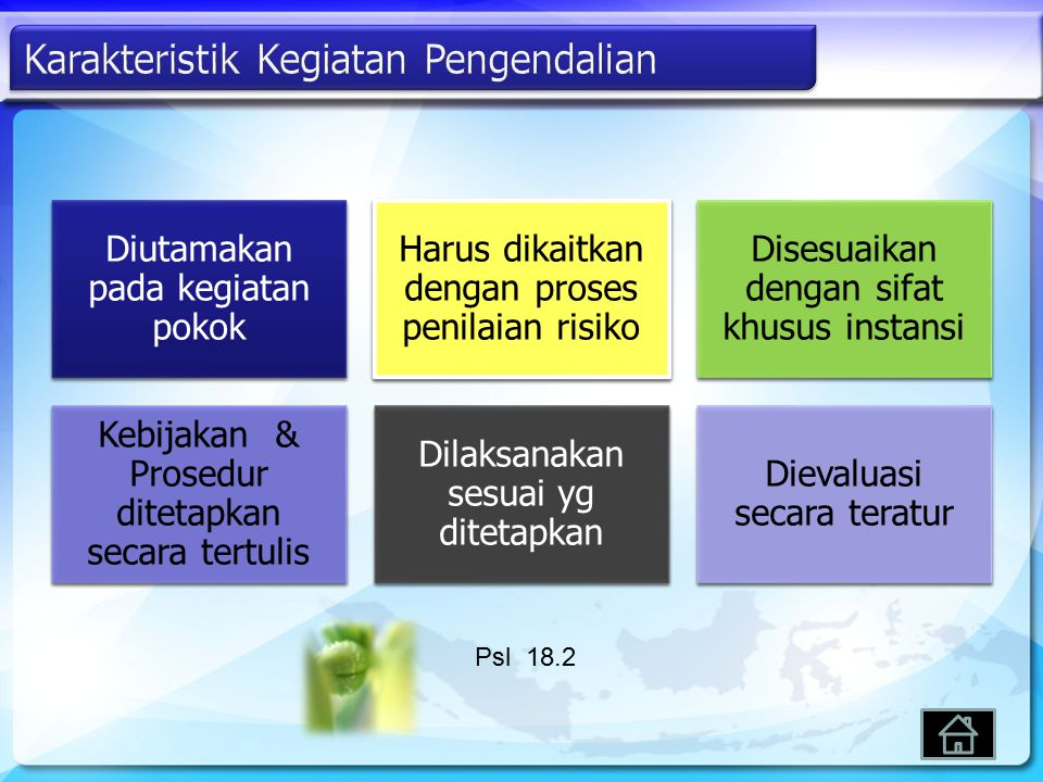 Karakteristik Kegiatan Pengendalian