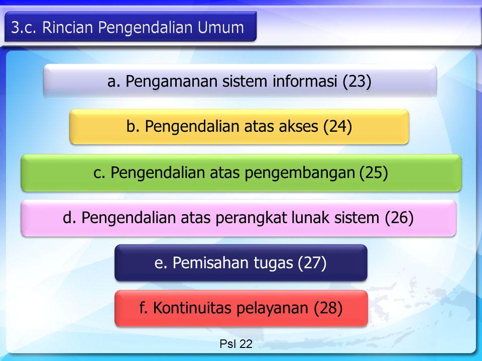 3.c. Rincian Pengendalian Umum