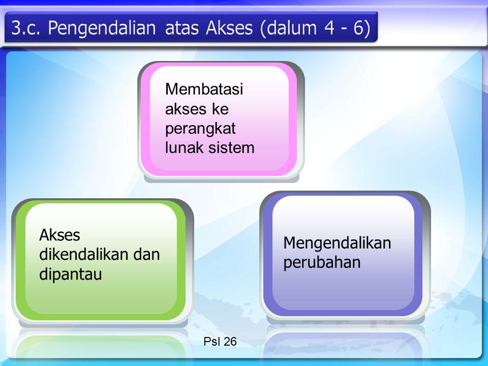 3.c. Pengendalian atas Akses (dalum 4 - 6)